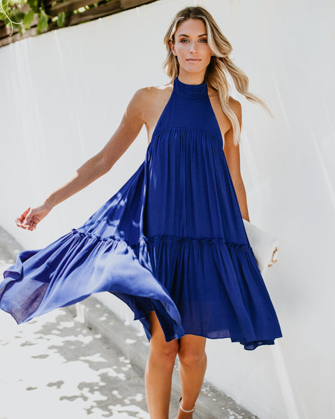 Way Up High Low Dress - Royal Blue - FINAL SALE