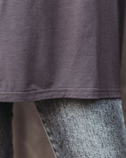 Wear It Well Long Sleeve Bamboo Knit Top - Storm Grey view 4