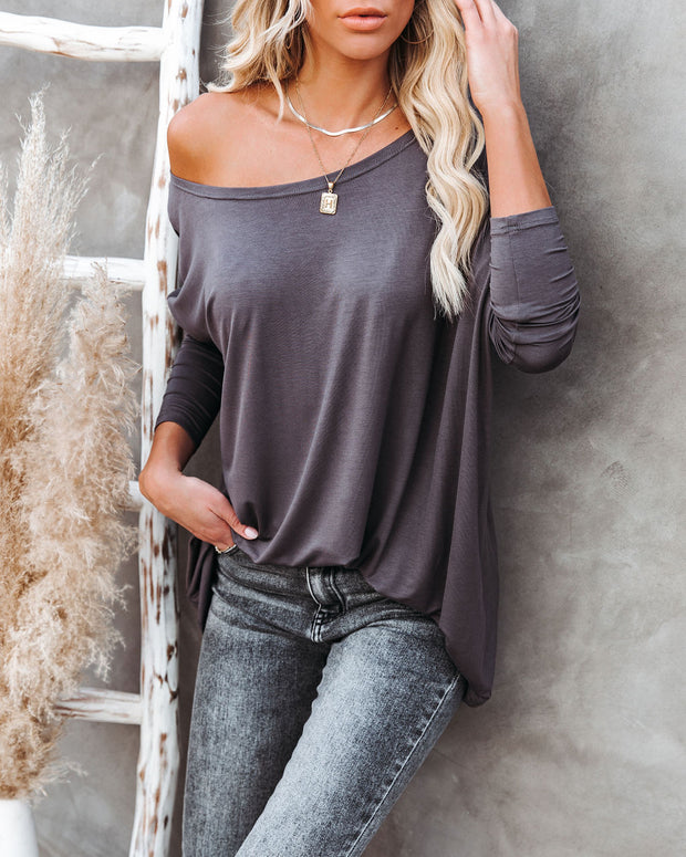 Wear It Well Long Sleeve Bamboo Knit Top - Storm Grey view 1