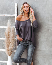 Wear It Well Long Sleeve Bamboo Knit Top - Storm Grey view 5