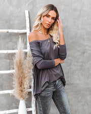 Wear It Well Long Sleeve Bamboo Knit Top - Storm Grey view 9