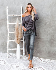 Wear It Well Long Sleeve Bamboo Knit Top - Storm Grey view 8