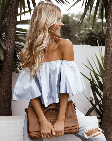 Fun In The Sun Off The Shoulder Top