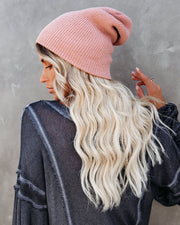 Weekend At The Lodge Beanie - Blush
