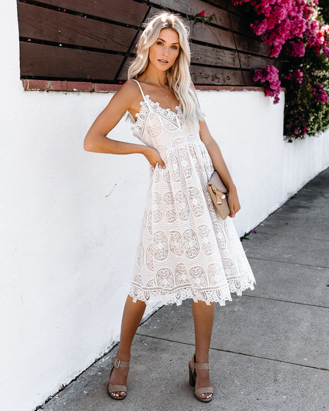 Well Polished Lace Dress