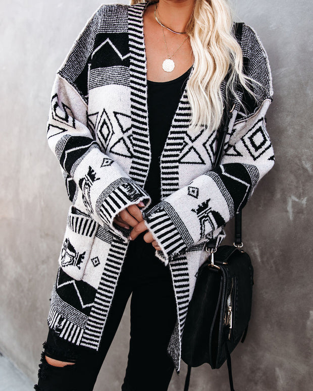 Western Ground Pocketed Belted Knit Cardigan - FINAL SALE