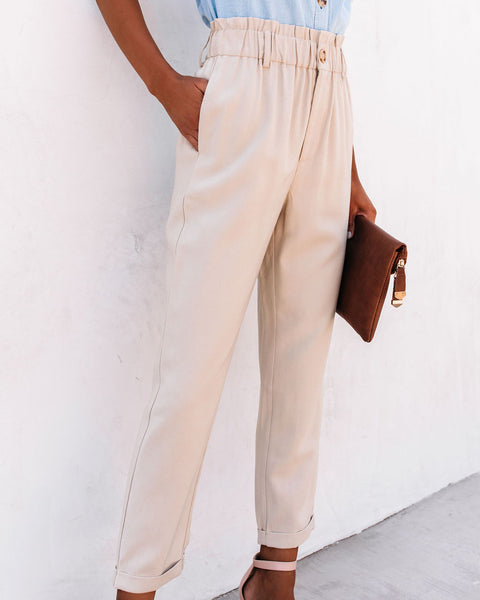 Westminster Pocketed Paper Bag Waist Trousers