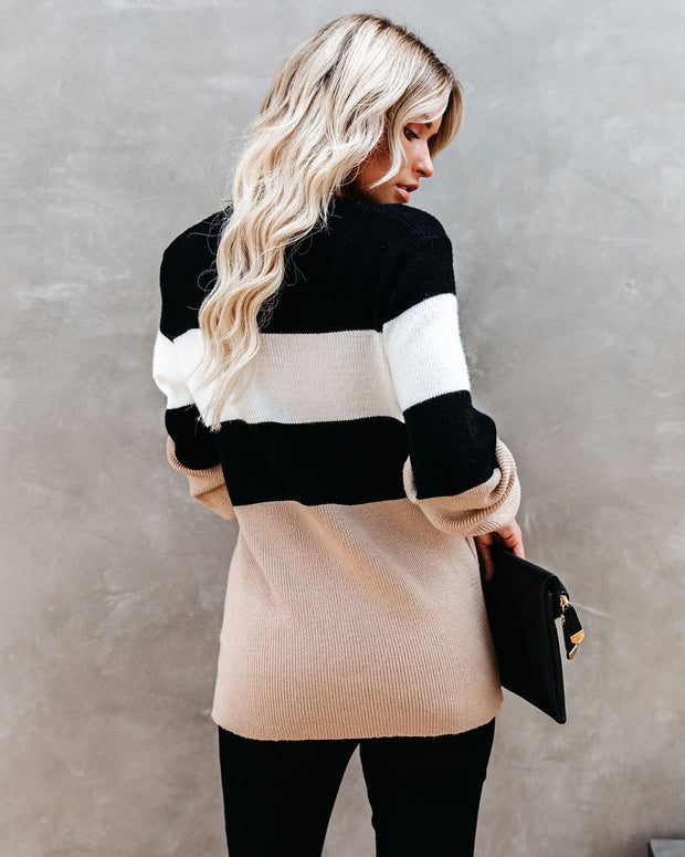 West Village Colorblock Knit Sweater