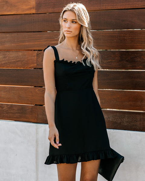 Where Your Love Lies Ruffle Tie Dress - FINAL SALE