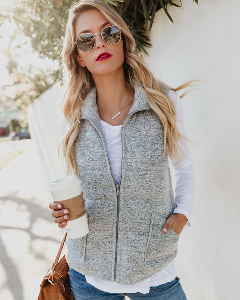 Whisper Softly Quilted Pocketed Vest