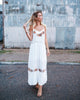 Keziah Floral Embroidered Maxi Dress - FINAL SALE