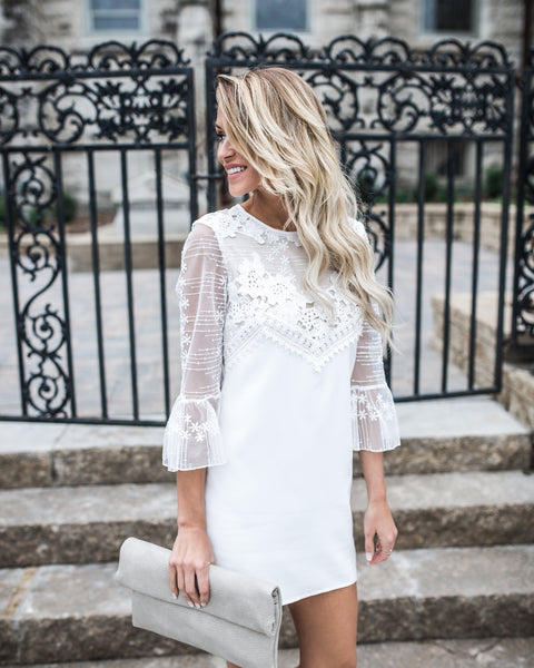 Love In White Lace Dress