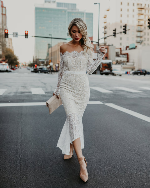 Elegance Lace Trumpet Dress