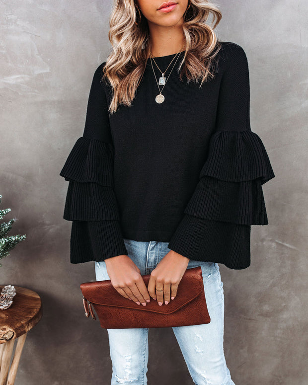 Wicked Cotton Blend Tiered Sleeve Sweater