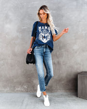 Wildcat Distressed Cotton Mama Tee
