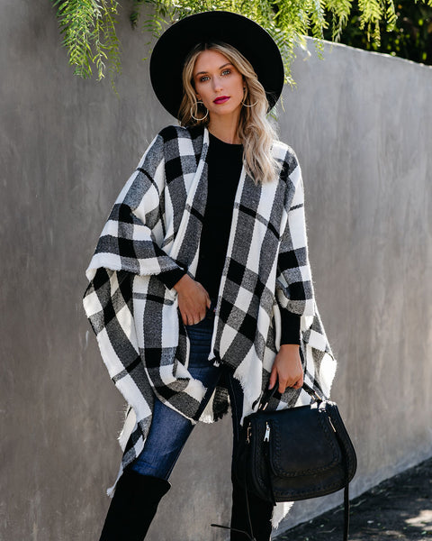Wilder Plaid Poncho