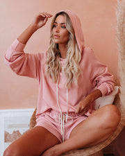 Wild Heart Cotton Blend Hoodie - Blush