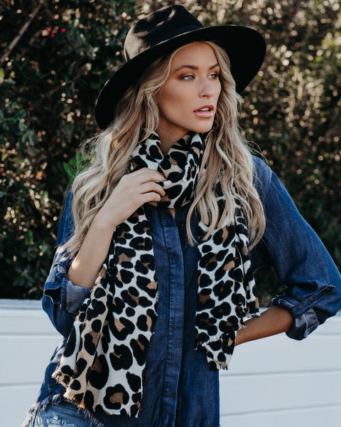 Wild Thing Leopard Blanket Scarf - FINAL SALE