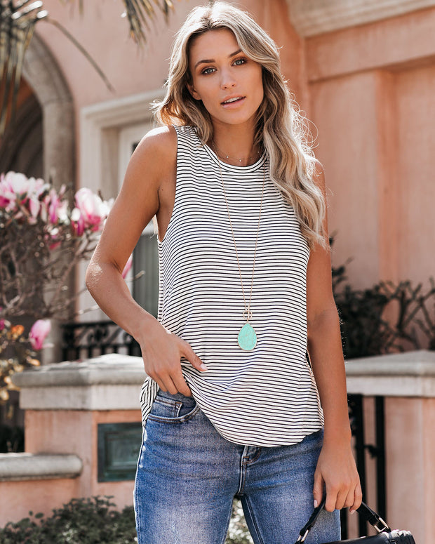 Wind Beneath My Wings Striped Tank