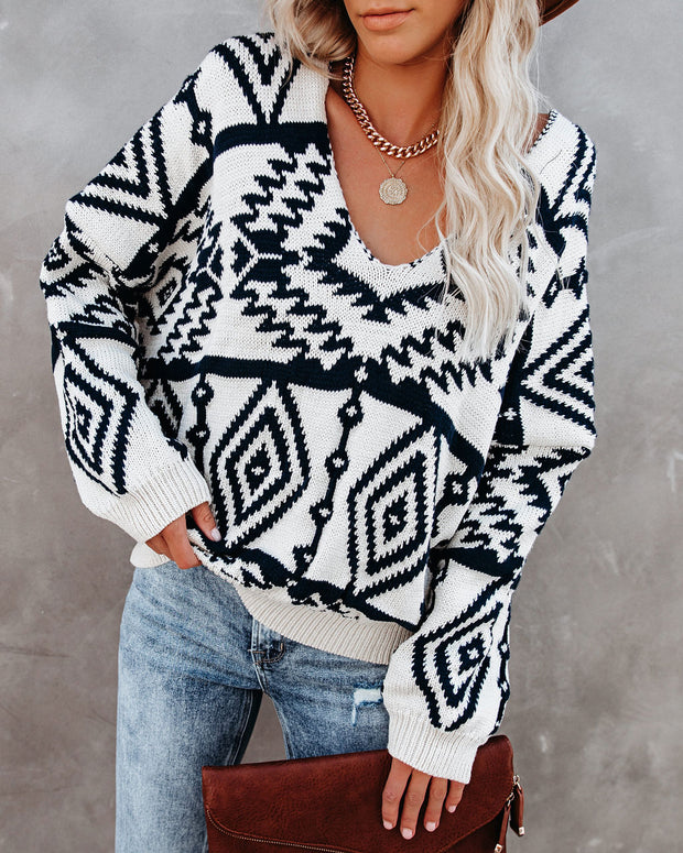 Wind Down Billowed Knit Sweater