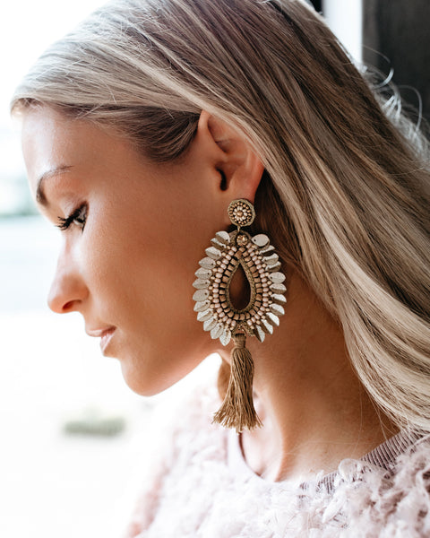 Wings Of An Angel Statement Earrings