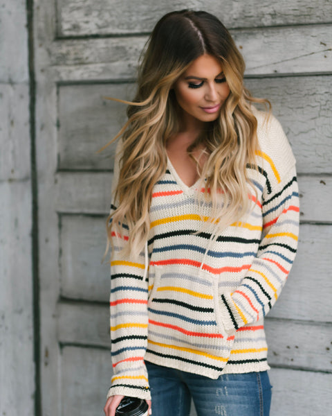 Bryn Striped Pocketed Pullover