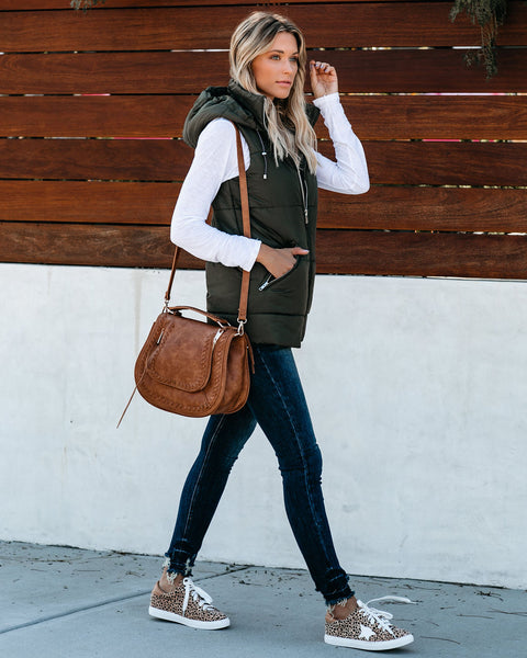 Winter Is Coming Pocketed Vest - Olive - FINAL SALE