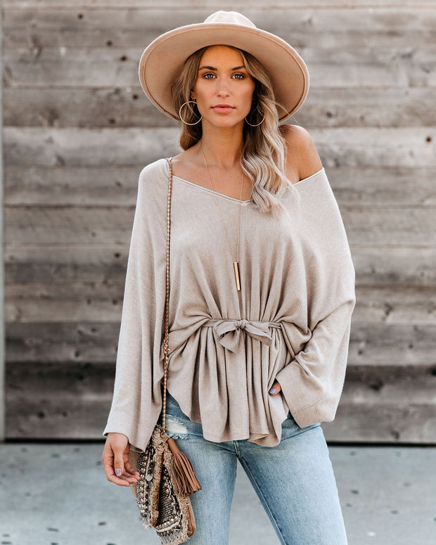Wish For Bliss Relaxed Tie Sweater