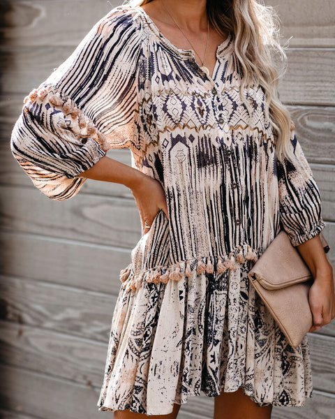 Wit And Wisdom Embellished Tassel Dress