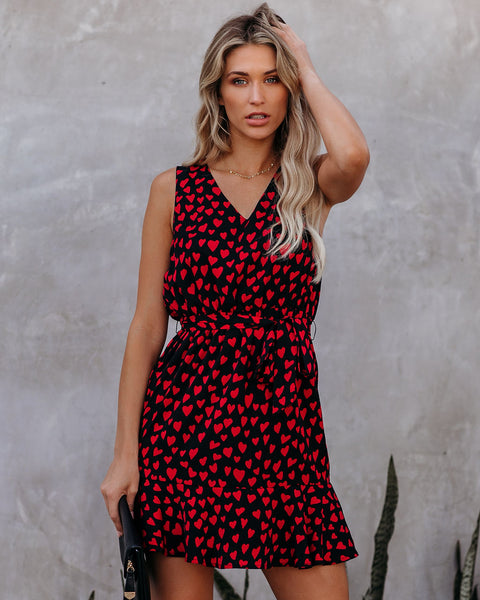 With All My Heart Sleeveless Dress - FINAL SALE