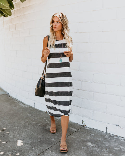 With A Twist Knit Midi Dress