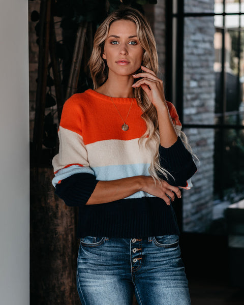 Won't Let Go Colorblock Knit Sweater - FINAL SALE