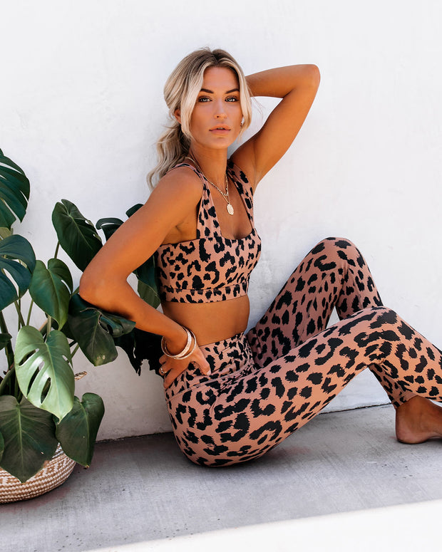 Work It Out Cheetah Sports Bra