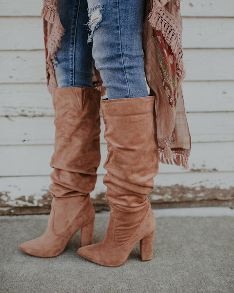Tatiana Faux Suede Scrunch Boot