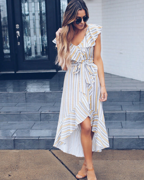Into The Sun Wrap Dress