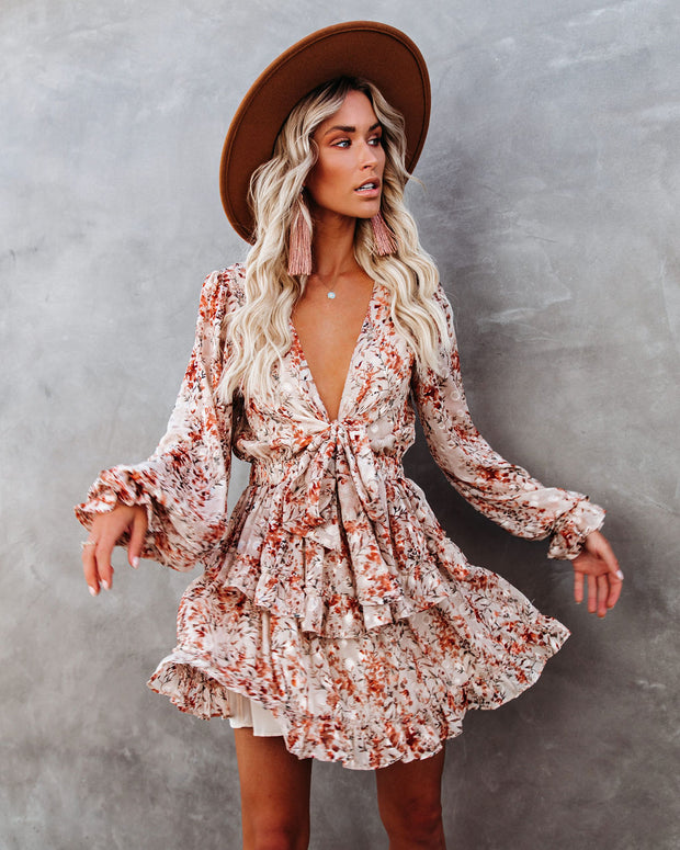 Wyatt Floral Ruffle Tiered Tie Dress - FINAL SALE