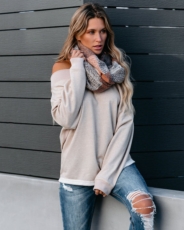Wyleigh Off The Shoulder Pullover - Oatmeal - FINAL SALE