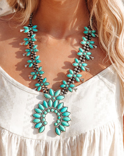 Xavier Turquoise Statement Necklace