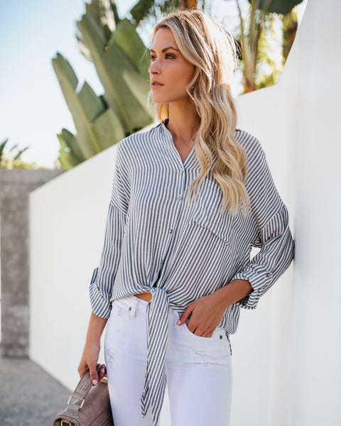 Yacht Club Button Down Tie Top