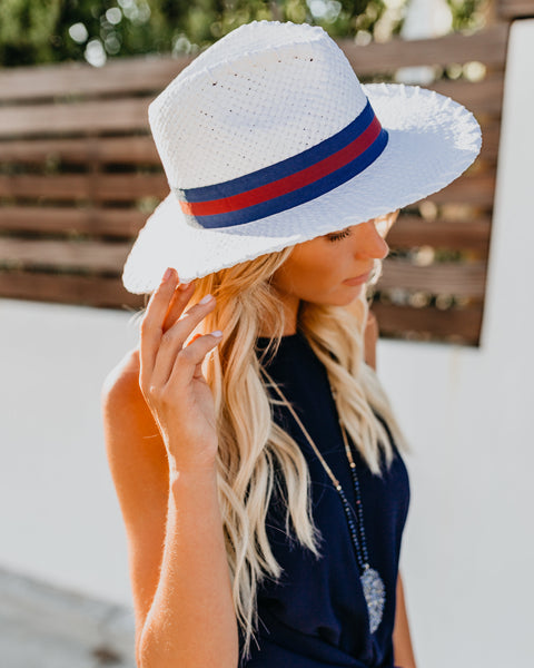 Yachting Belted Straw Hat - FINAL SALE
