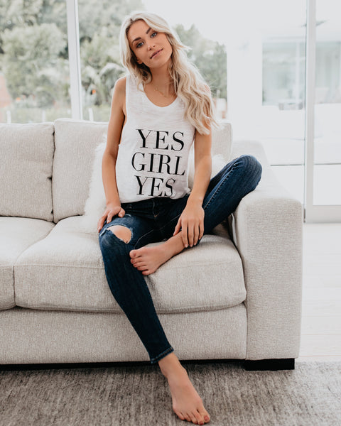 Yes Girl Yes Racerback Tank - FINAL SALE