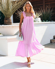 You Are Loved Ruched Strap Maxi Dress view 1
