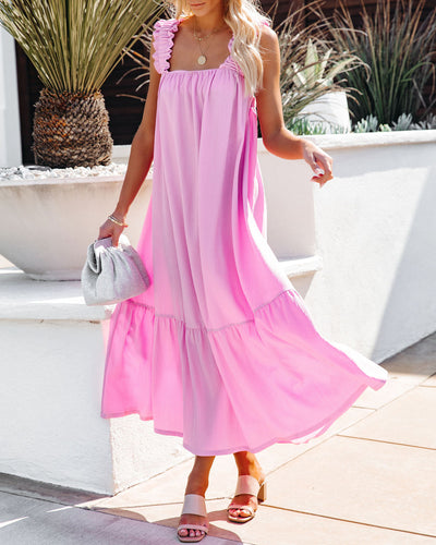 You Are Loved Ruched Strap Maxi Dress