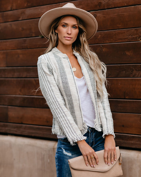 You Betcha Cotton Frayed Tweed Jacket - FINAL SALE