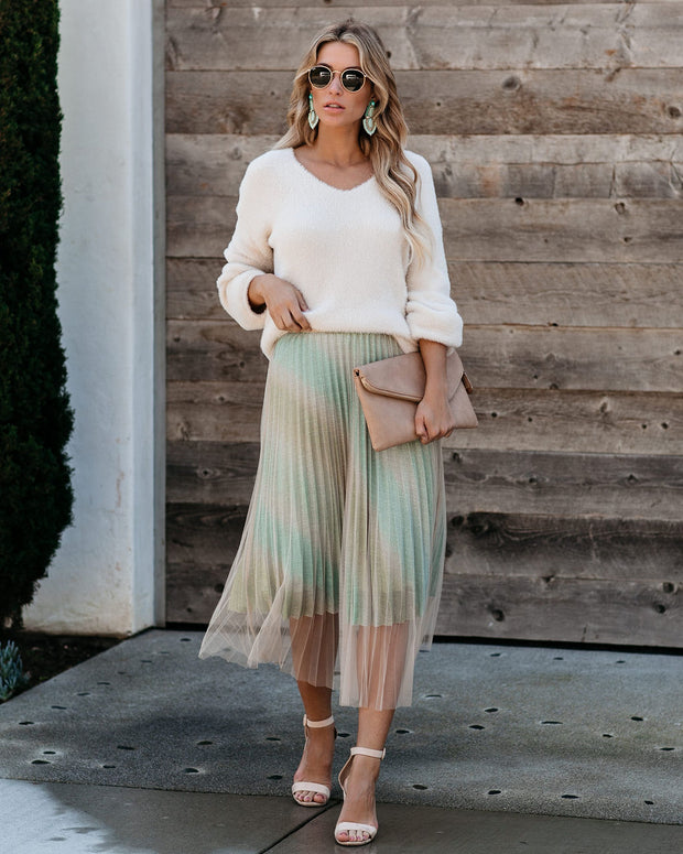 You Deserve It Pleated Tulle Glitter Skirt  - FINAL SALE