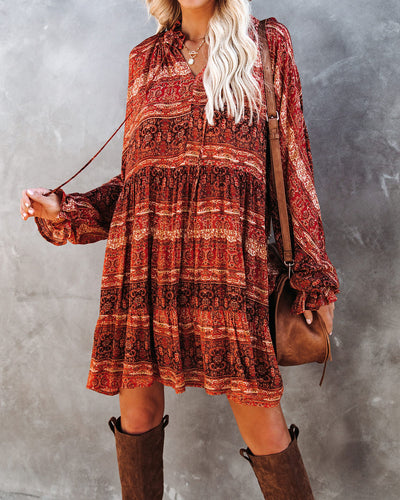 You Have My Heart Tiered Babydoll Dress