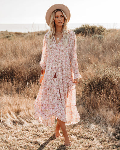 You're A Gem Floral Tiered Boho Maxi Dress