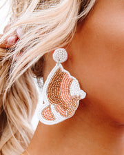 You're Free Beaded Statement Earrings - White view 1