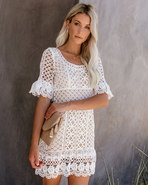 You're The One Crochet Lace Dress - White
