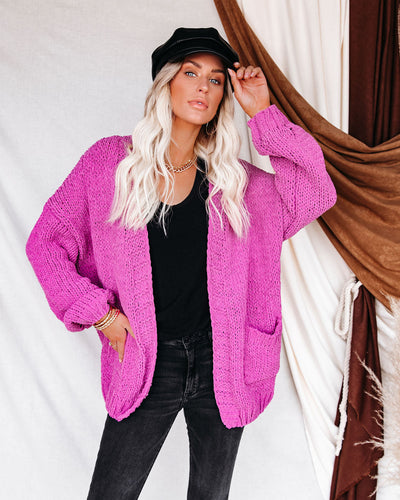 Zadie Pocketed Chenille Knit Cardigan